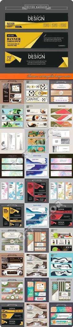 Banners set template design vector