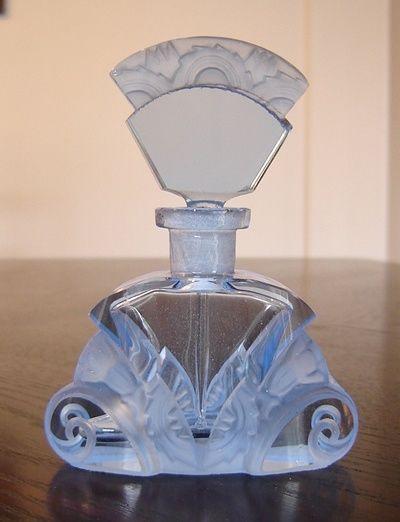 Vintage blue scent perfume bottle