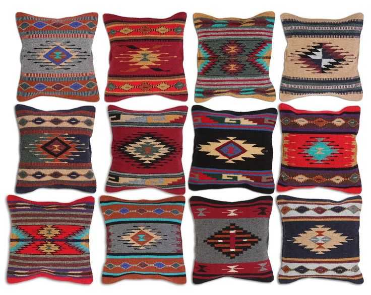Lovesac Throw Pillow Covers : Aztec Throw Pillow Covers 18 x 18 Hand Woven in Southwest and Native American eBay navajo ...