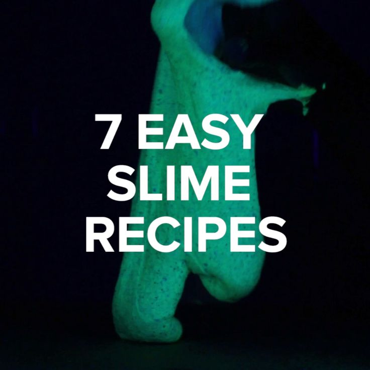 7 Easy Slime Recipes // #slime #diy #crafts #nifty #glowinthedark