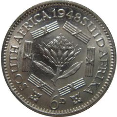 1948 UNION OF SOUTH AFRICA 3 PENCE for R22.00