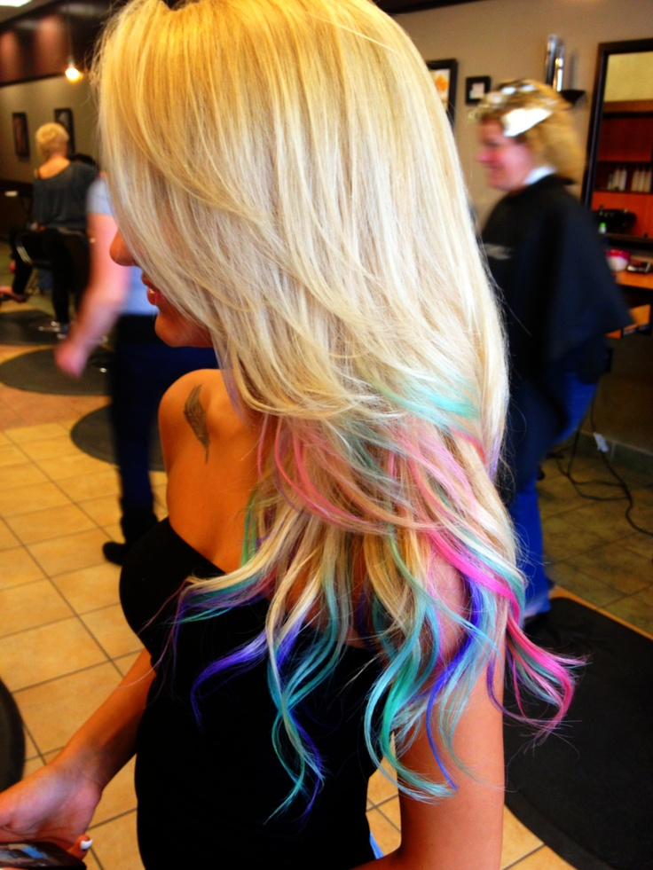 Rainbow Ombre Hair Ideas Pinterest Ombre And Rainbows