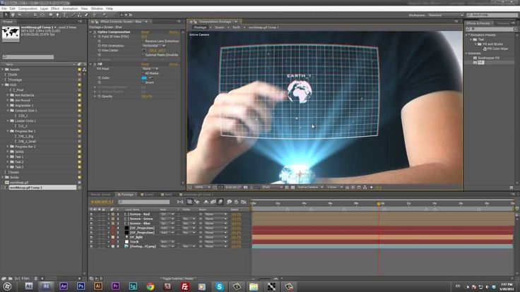 Hologram Watch Tutorial - After Effects