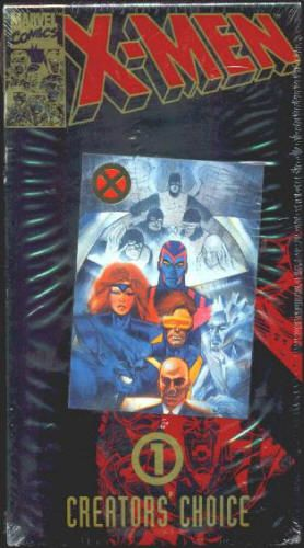 "X-MEN Cartoon VHS Tapes with MINI-COMICS and CARDS: MIP, Still sealed/shrink wrapped - never opened Pizza Hut Promos, 1993, Saban Entertainment-Marvel Comics, Set of 2 Hi-Fi Stereo Tapes, Creators' Choice #1 ""Night of the Sentinels"" is the two-part pilot episode of the TV series that first aired on 10/31 and 11/7/1992. Both for $12"