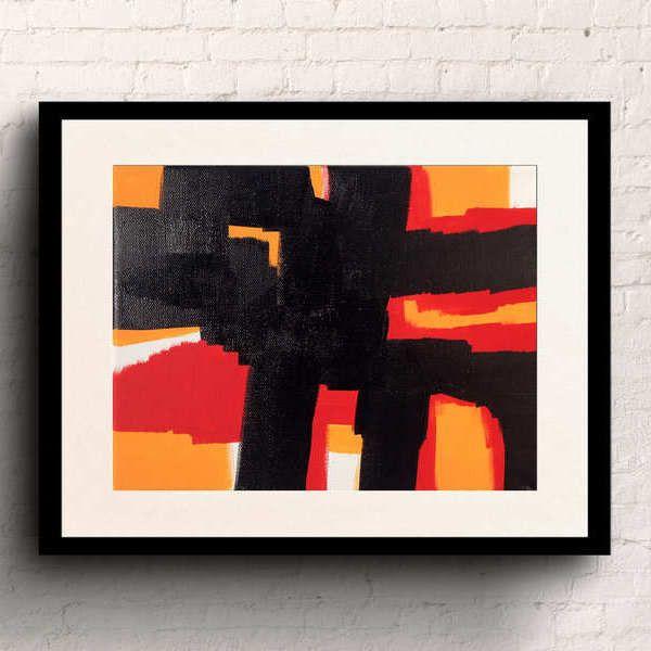 Acrylic painting Kiss my art shop 8x10 KMAS132 Abstract art