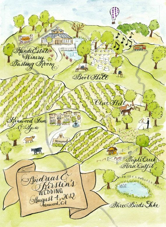 Watercolor Wedding Map DIY print at home or by DesignsByRobynLove, $325.00