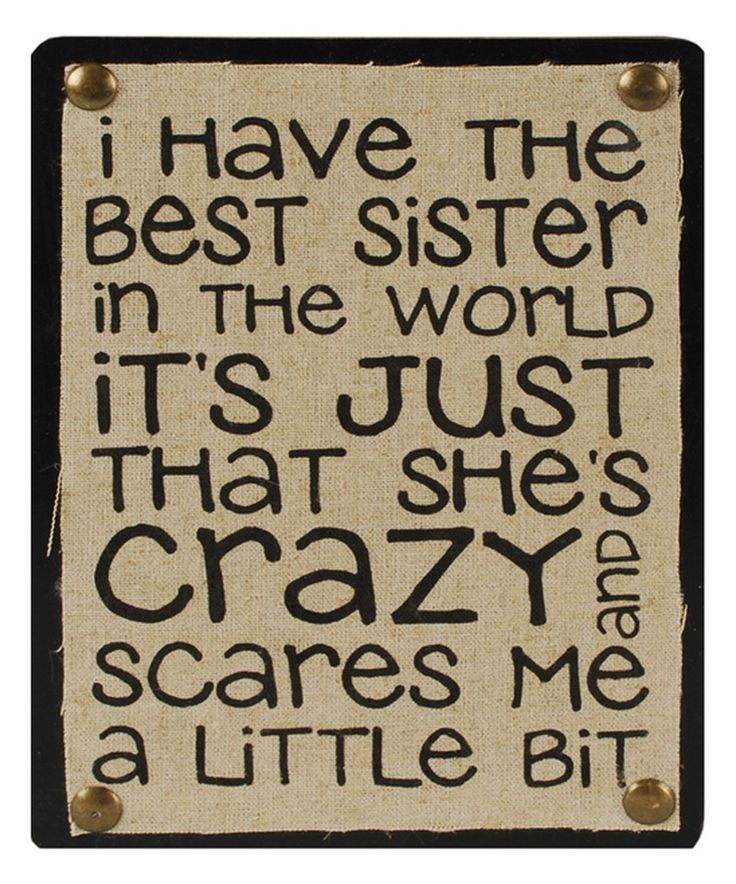 This 'Best Sister in the World' Wall Box Sign by Blossom Bucket is perfect! #zulilyfinds