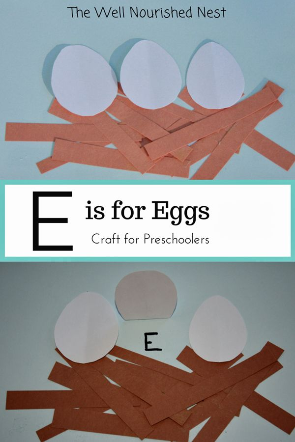 Alphabet letters - E is for Eggs - The Well Nourished Nest