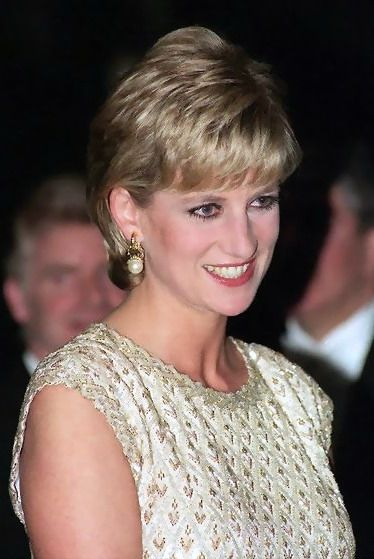 """March 19, 1996: Diana, Princess of Wales at """" Alice in Wonderland """" English National Ballet, Coliseum in London."""