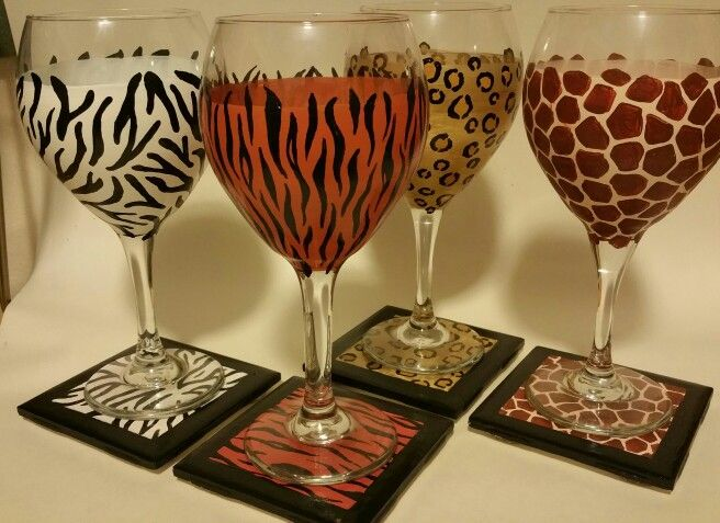 Animal glasses with matching coasters