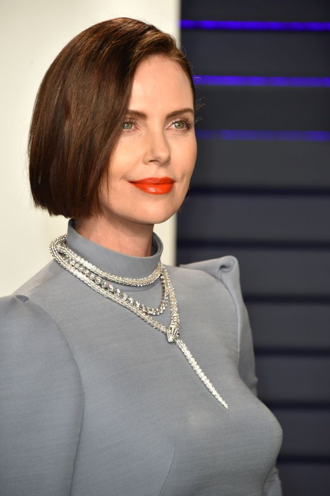 Charlize Theron attends the 2019 Vanity Fair Oscar Party hosted by…