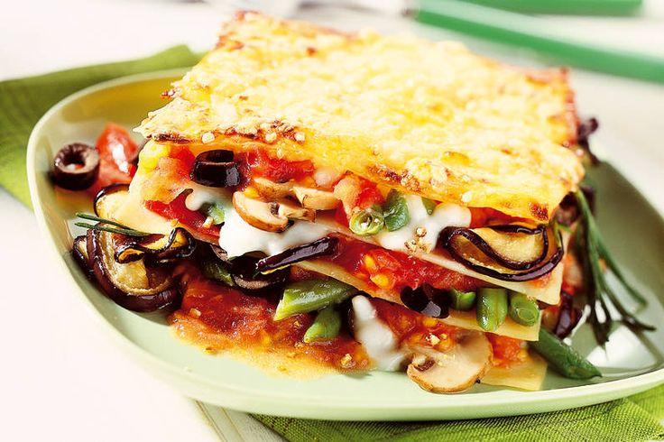Das Rezept für Gemüse-Lasagne mit Auberginen mit allen nötigen Zutaten und der einfachsten Zubereitung - gesund kochen mit FIT FOR FUN