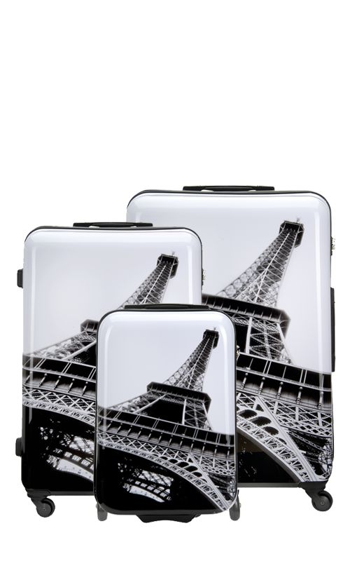 Paris, ışığın ve dünya modasının başkenti ,  şüphesiz ki, Suitsuit® koleksiyonunda gezginlere sunulmalıydı! Eifel baskılı bu valiz, seyahatlerinizde size şıklık katacak!