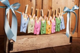 These Baby Bundles make such a great baby shower favor and are cute as a decoration too! You can make them for a baby girl or baby boy shower, just pick your favorite fabrics to wrap your bundles in. These are easy to make so download this instruction packet now and get started today!