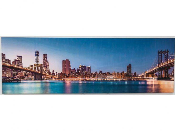LED Kunstdruck auf Leinwand MAJESTUEUX - 30 LEDs - 45x140cm
