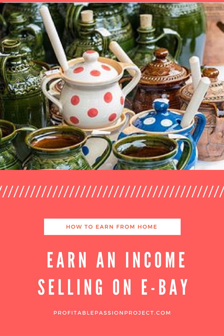 Learn extra income from home by selling on e-bay.