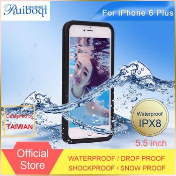 Estuches impermeables para el iPhone 6 más la caja para el iPhone 6 5.5 cubierta del teléfono a prueba de golpes a prueba de polvo de la gota a prueba de teléfono móvil bolsas y maletas