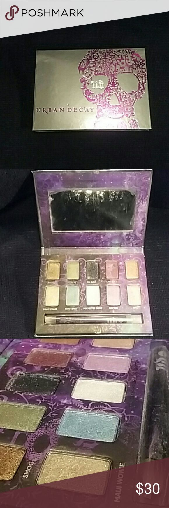 ☆Urban Decay☆ I'll have better pictures at sunrise tomorrow lol. This one is also Urban Decay only color swatched was the black. Still has brush NEVER used. FREE gift with every purchase next day shipping guaranteed Urban Decay Makeup