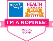 Show Me Your Diamond has been nominated for a BUPA Blog Award in the category of Social Good!!