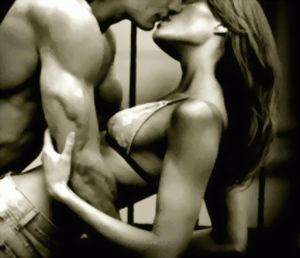 """""""I gasp, and his mouth swoops down. He's kissing me, violently. Briefly our teeth clash, then his tongue is in my mouth. Desire explodes like the Fourth of July throughout my body, and I'm kissing him back, matching his fervor..."""""""