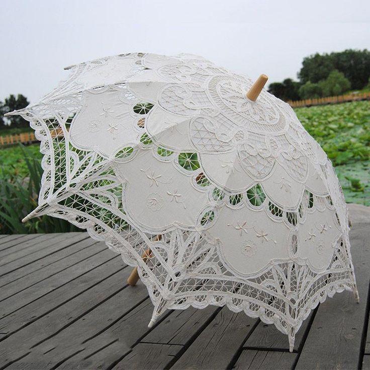 Кружевной зонтик свадебные Подставки для фотографий Танец Зонт украшен с Continental Cott купить на AliExpress