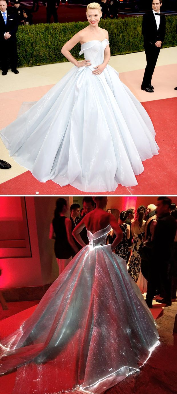 WOW Claire Danes in an incredible lighted Zac Posen ball gown // The Wedding Scoop's favorite red carpet looks from Met Gala 2016 {Pinterest: The Wedding Scoop}