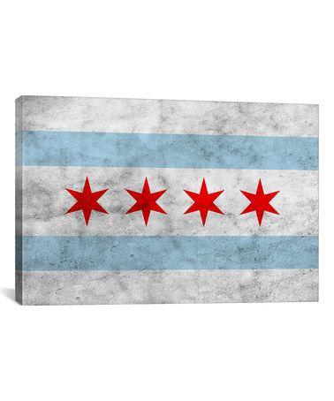 Loving this Chicago City Flag Canvas on #zulily! #zulilyfinds