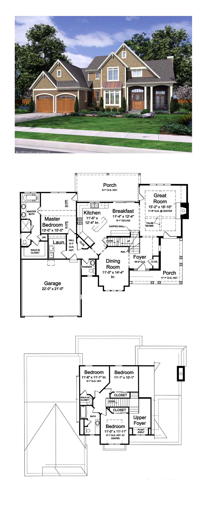 European house plan 50168