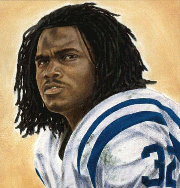 Edgerrin James, Colts by Mark Turnes, 2002.