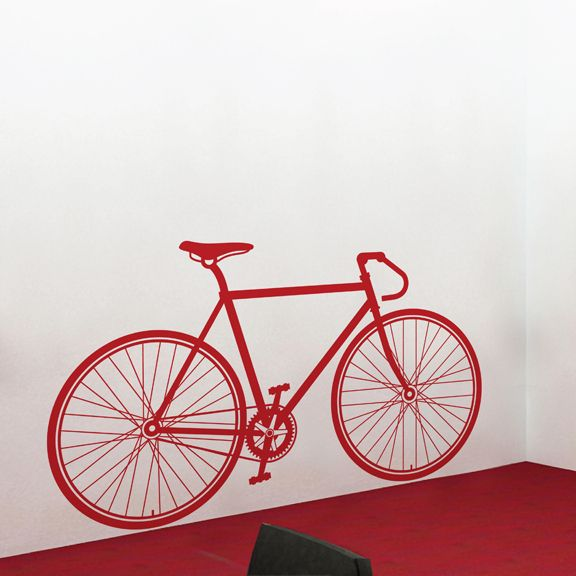 fixed gear bike wall decal | vintage decor | fixed gear bike, fixed