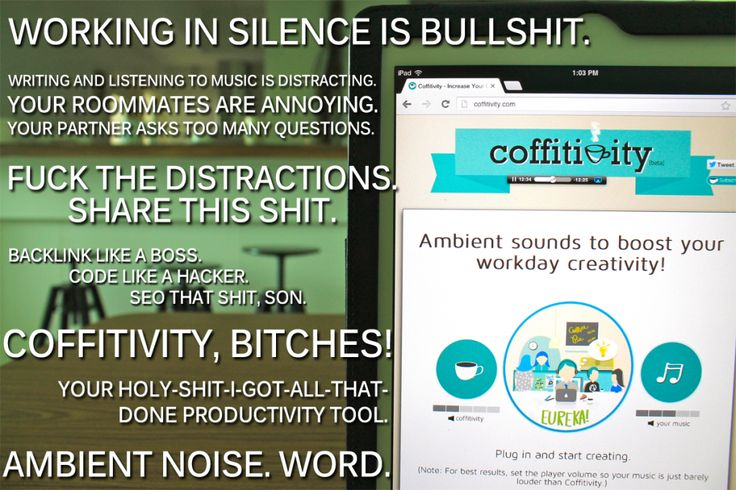 Coffitivity - one of our favourite online productivity tools