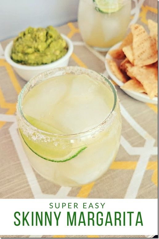 Easy Skinny Margarita Recipe with only 4 ingredients. No artificial sugar or sweeteners, fruit juice sweetened. Enjoy!  Hola! I'm going to cut to the chase – it's National Margarita Day and I am a Mex
