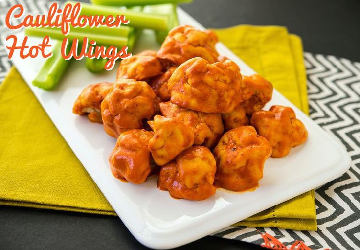 """Cauliflower Hot Wings Recipe  From new book """"Happy Herbivore Holidays & Gatherings"""" by Lindsay Nixon"""