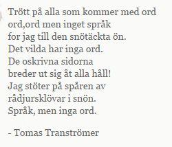 Tranströmer.