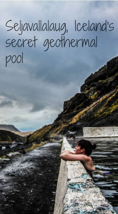 Seljavallalaug geothermal pool is a more hidden spot in Iceland.