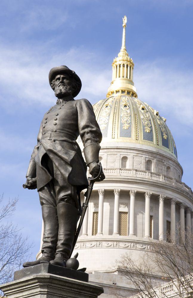 Stonewall Jackson Statue at the West Virginia State Capital #WestVirginia