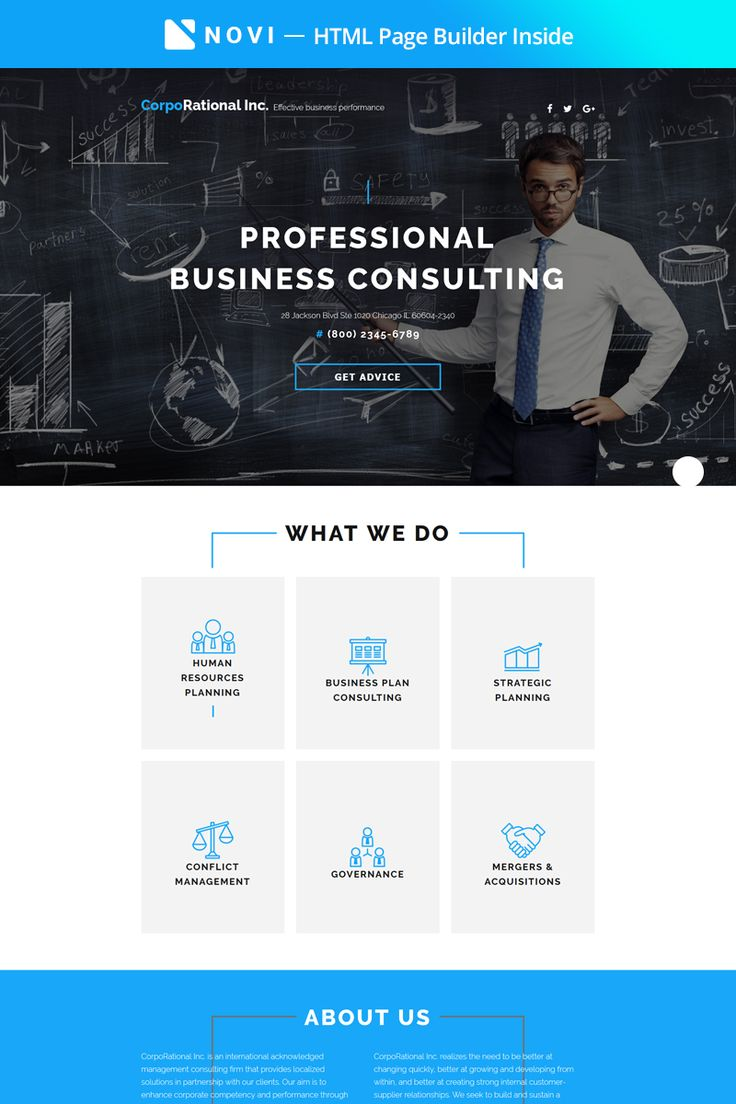 Business Consulting Landing HTML5 Template