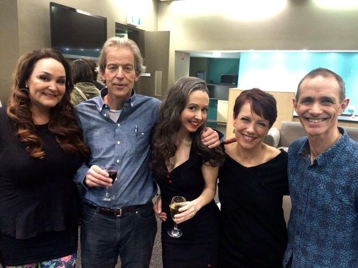 August 2015 Book Club Kate Langbroek, Jason Steger, Marieke Hardy, Jennifer Byrne & Andy Griffiths.