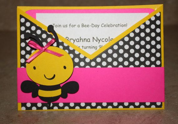 Bumble Bee Invitations by yadyscreations on Etsy, $24.00