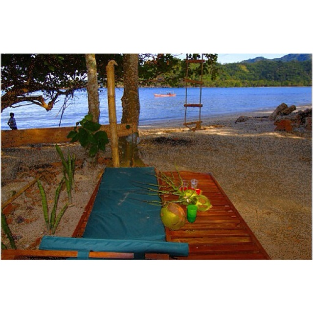 View from ur beach tent at Kiluan Bay  lampung @kiluandolphin