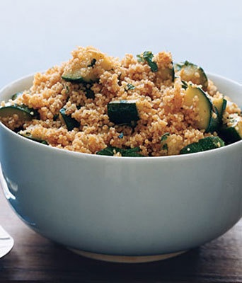 Cous Cous! http://www.bbcgoodfood.com/recipes/3097/couscous-with-chorizo-and-chickpeas