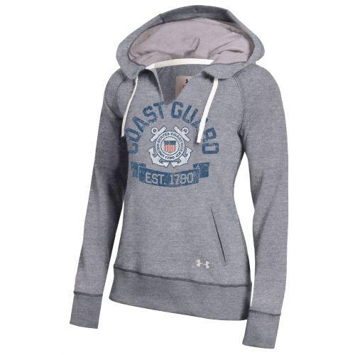 Coast Guard Gear :: Under Armour® Womens Legacy Fleece Pullover - Grey - Coast Guard Exchange | shopCGX.com