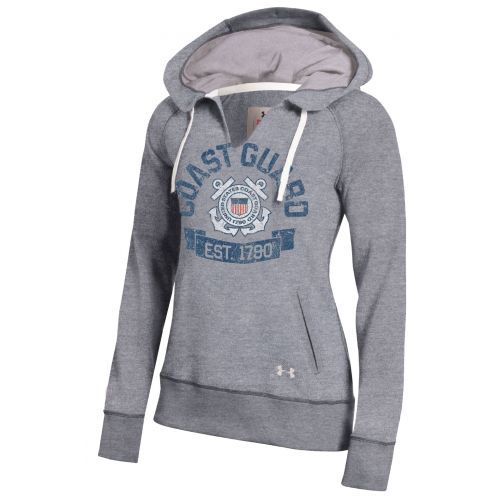 Coast Guard Gear :: Under Armour® Womens Legacy Fleece Pullover - Grey - Coast Guard Exchange | shopCGX.com