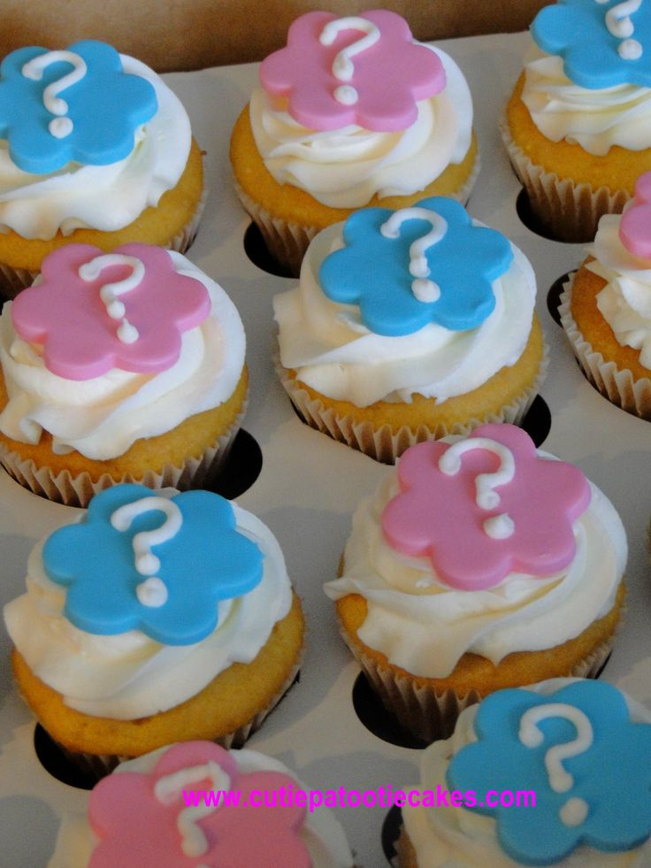 Gender Reveal Cupcakes. For the family, maybe?!