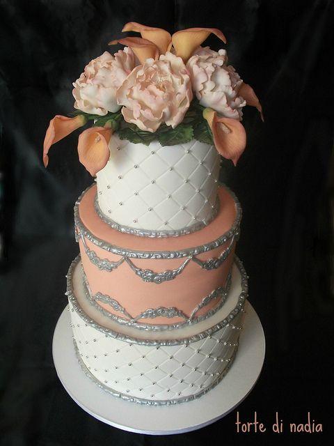 Per le nozze d'argento di Sonia e Donato cake with calla lilies by torte di nadia, via Flickr