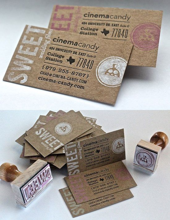 Cinema Candy Good Business Card #Design