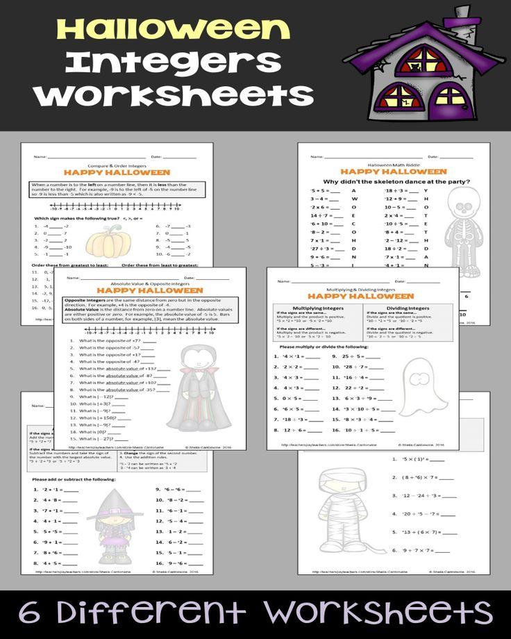 Printable Math Worksheets For 7th Grade Integers di 2020