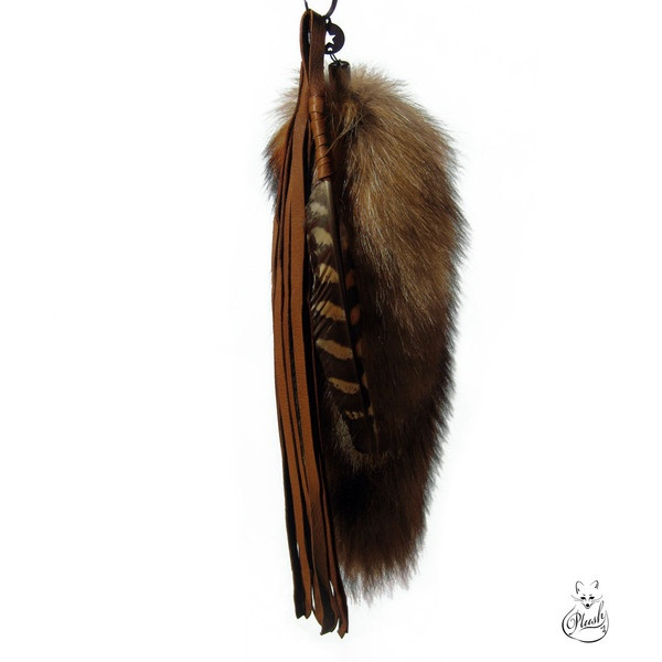 Totem Fox Tail Keychain charm ($32) ❤ liked on Polyvore