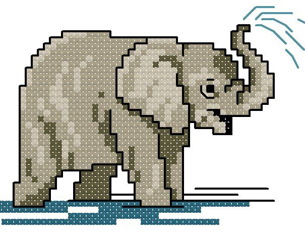 elephant  To get the chart, click on the first line under the photoCrosses Stich, Crosses Stitches