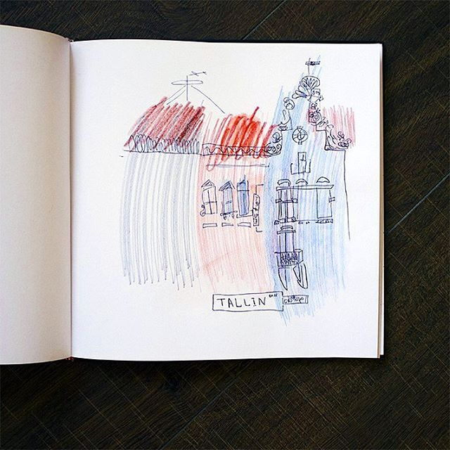 my memories of the trip  #worklena27 #tallinn #estonia #sketching #sketch #sketchbook #drawing #town #roof #pensildrawing #oldtown #скетчбук #скетч #старыйгород #крыши